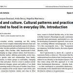 Alimentație și cultură. Modele culturale și practici legate de alimente în viața cotidiană