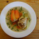 Zupă dulcie die găină cu thipăruși umplutie
